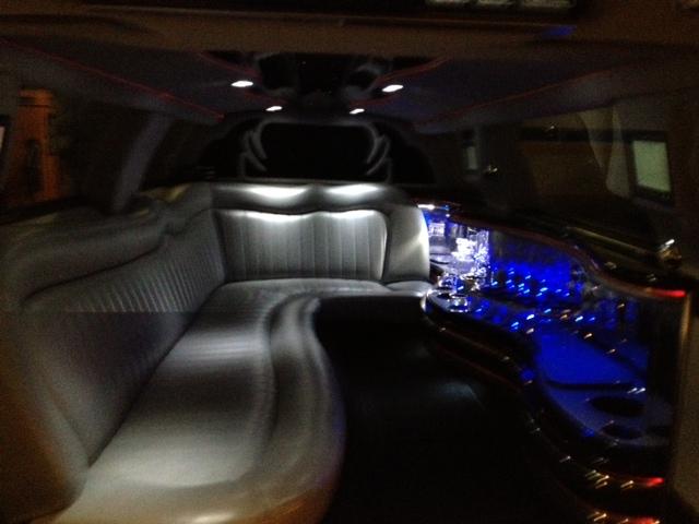 intérieur d'une limousine américaine
